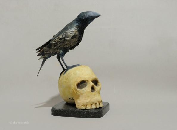 El cuervo de Poe / 21 x 19 x 30 cm / SOLD