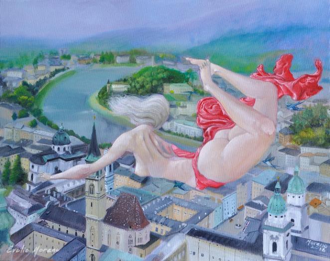 El cielo sobre Salzburgo / 50 x 40 cm
