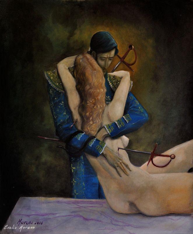Los amantes de Verona / 80 x 100 cm