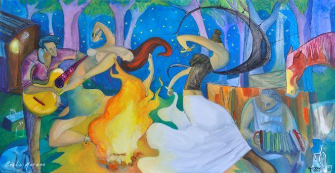 Musica del bosque / 120 x 60 cm